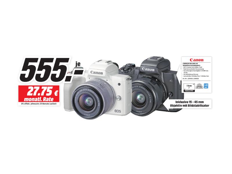 [Lokal MediaMarkt Bielefeld] Canon EOS M50 Kit 15-45mm