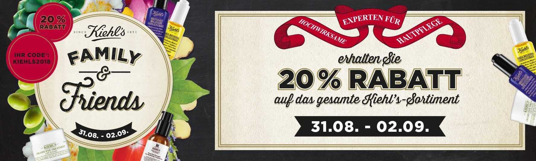 [Breuninger - offline & online] 20% Rabatt auf das Kiehl's Sortiment. Keine VSK.