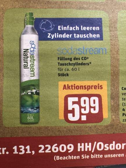 Lokal Rewe Center Hamburg Füllung  ORIGINAL Sodastream (also Zylinder im Tausch)