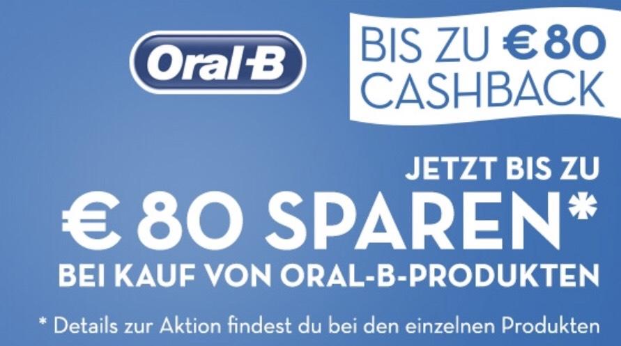 Aktion Oral-B bis zu 80€ Cashback - z.B. Oral-B Genius 9000N Elektrische Zahnbürste 104€ statt 160€