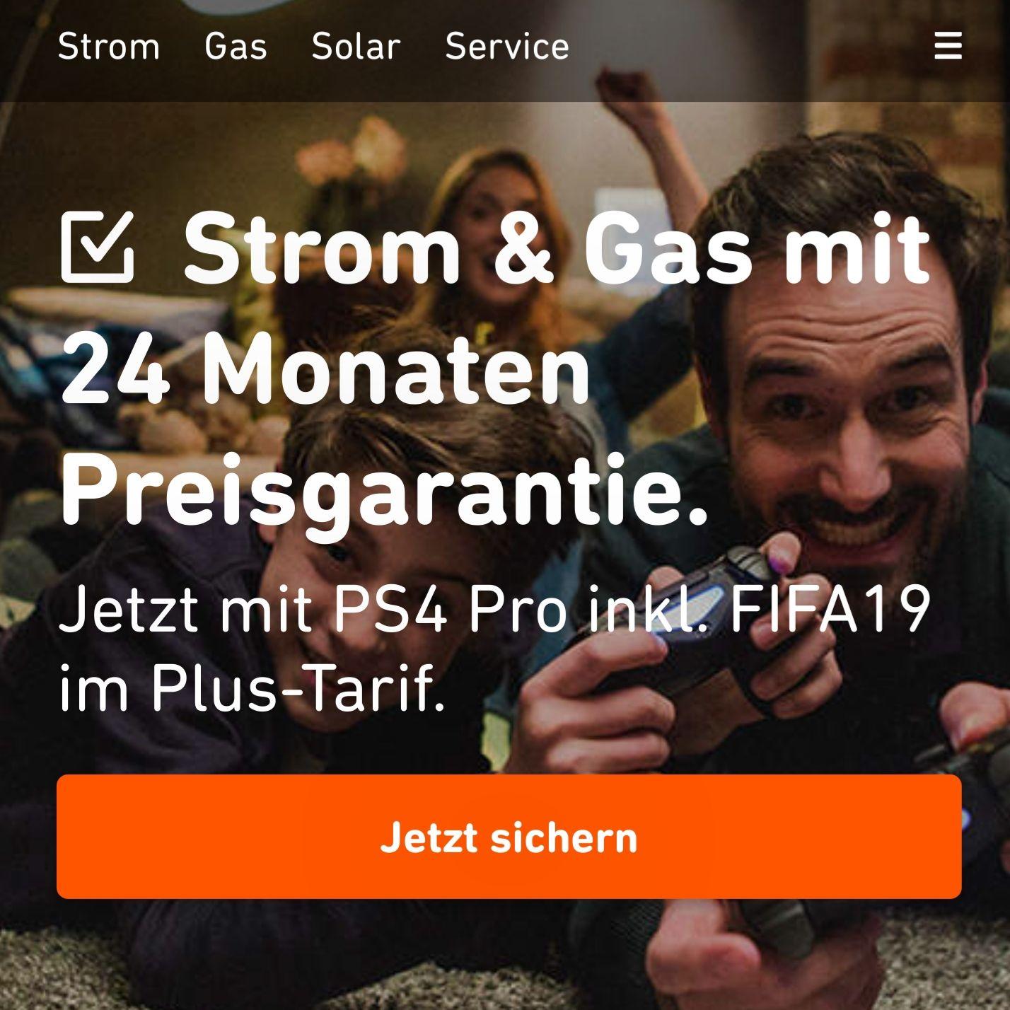 [Yello.de] PS4 Pro 1 TB für 49€ bei Strom- oder Gasanschluss