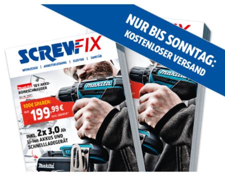 Kostenlose Lieferung bei Screwfix (0€ MBW)