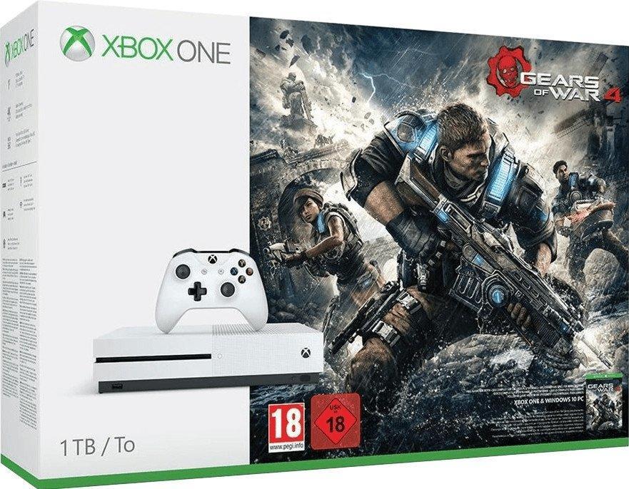 Microsoft Xbox One S 1TB + Halo Wars 2: Ultimate Edition für 189€ oder Microsoft Xbox One S 1TB + Gears of War 4 für 189€(Saturn)