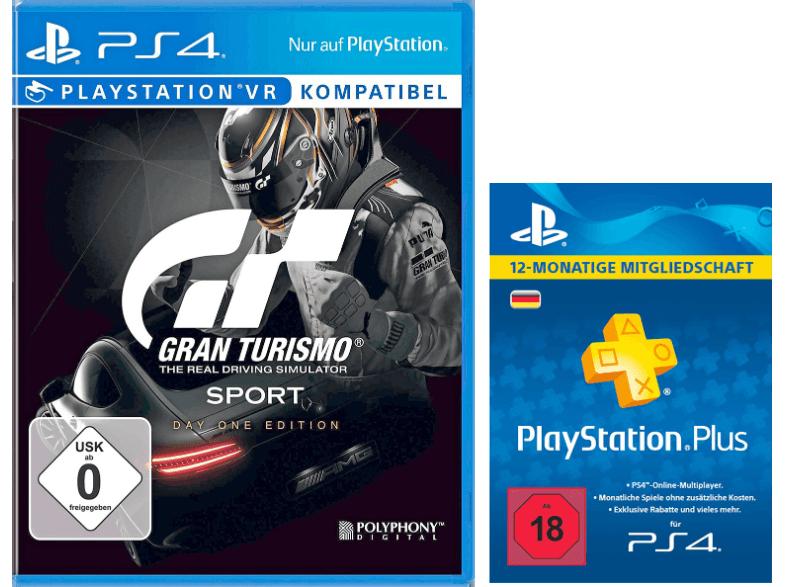 Gran Turismo Sport Day 1 Edition (PS4) + PlayStation Plus Card 12 Monate für 54€ (Saturn)