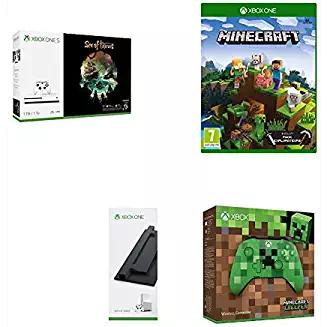 [Amazon FR] Verschiedene Xbox One S 1TB Minecraft Bundles (Basis Xbox One S 1TB + Minecraft Explorers Pack + Minecraft Creeper Controller + Vertical Stand)