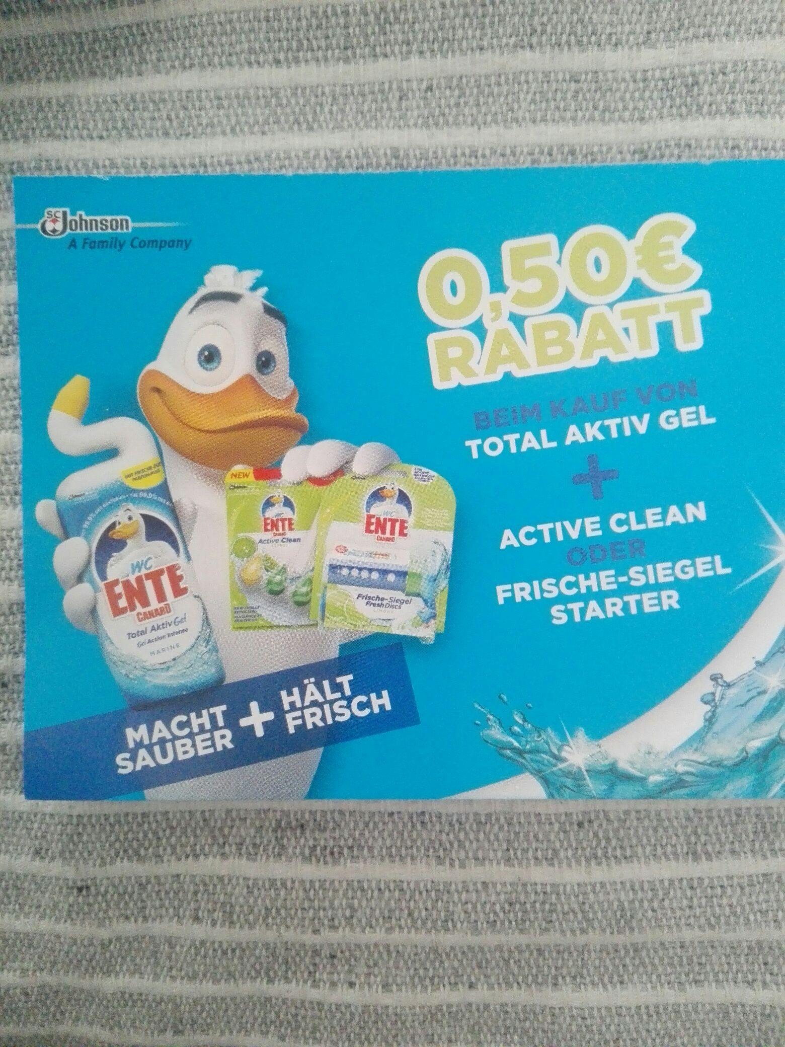 Real WC Ente Gel Gutschein gilt nur bei Kauf von 2 Produkten