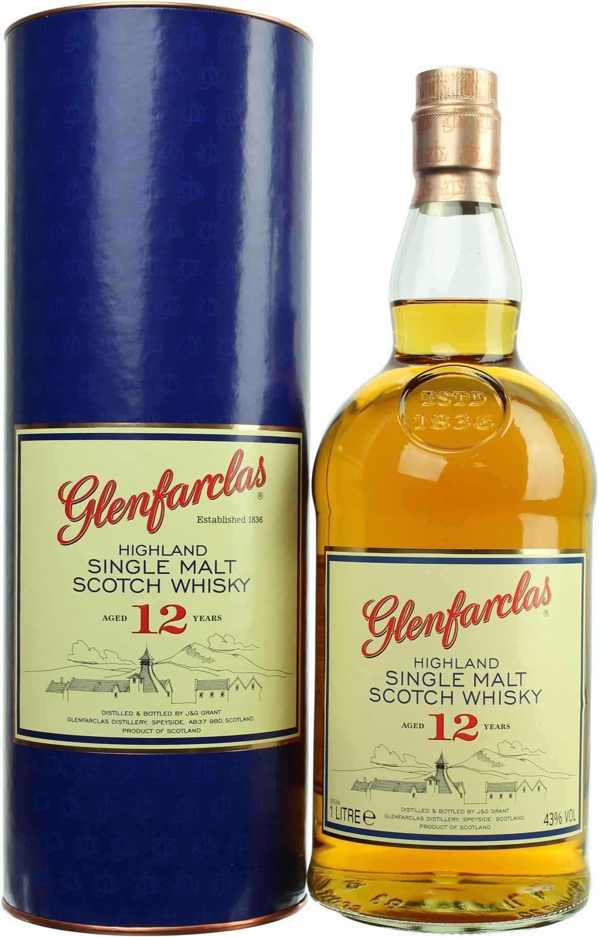 [LOKAL Grenzgänger Tschechien] Glenfarclas 12 YO Single Malt Whisky (1,0l, 43%)