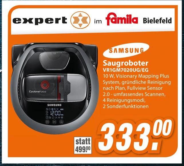 [ lokal Bielefeld ] Saugroboter Samsung VR1GM7020UG/EG für 333€ @ expert im famila