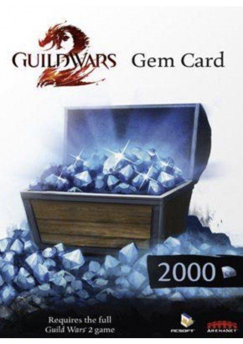 Guild Wars 2 2000 Gem Points Card (Ingame Währung)