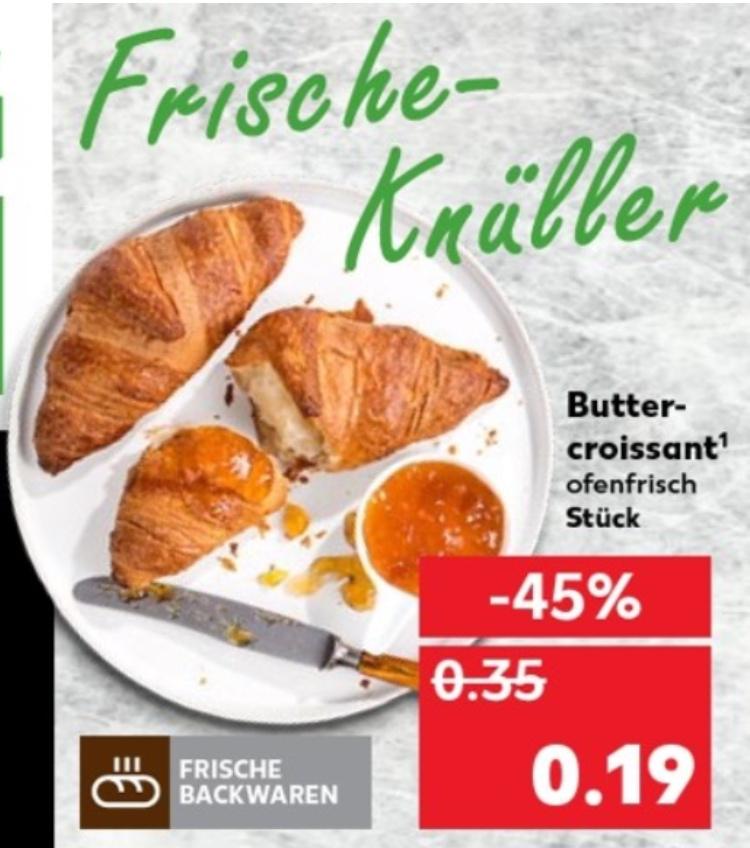 [Kaufland] Ofenfrisches Butter-Croissant ab 10.09 für nur 19 cent