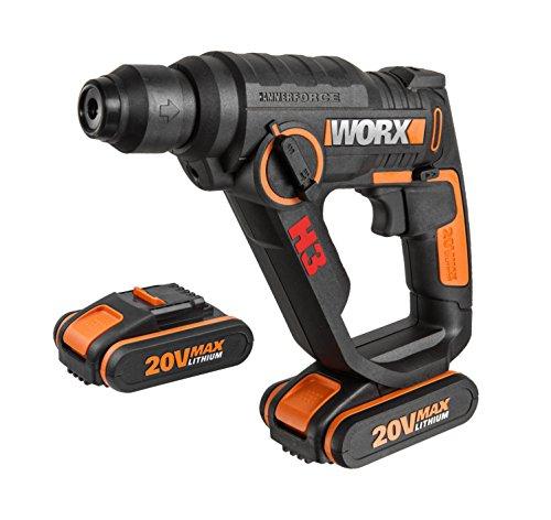 WORX WX390.1 Bohrhammer SDS-plus, 20 V mit 2 Akkus