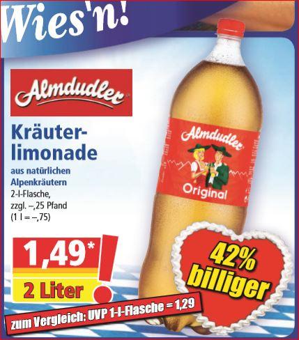 Almdudler 2 Liter-Flasche für 1,49 Euro [Norma]