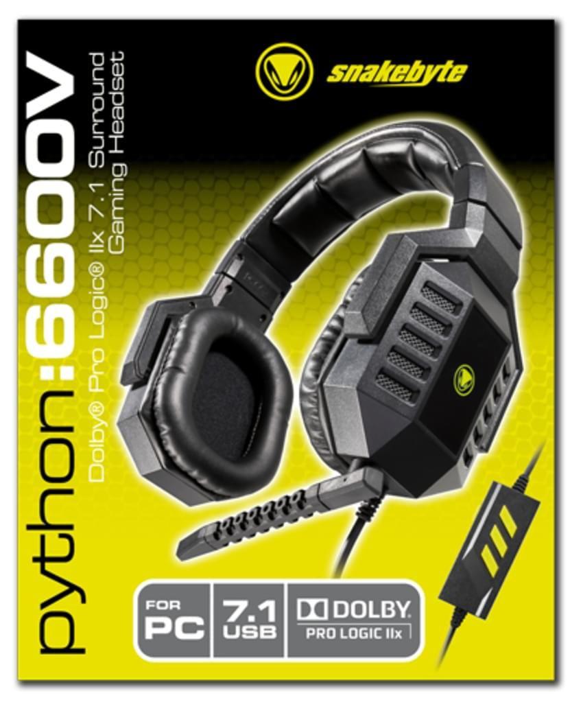 Snakebyte Python 6600V Virtual 7.1 Headset PC, Schwarz, SB908675