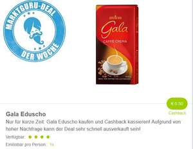 ( Marktguru ) 0,30 Euro auf Gala Eduscho
