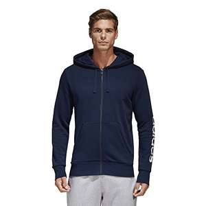 adidas Herren Essentials Linear Full-Zip Hoodie in XL Blau