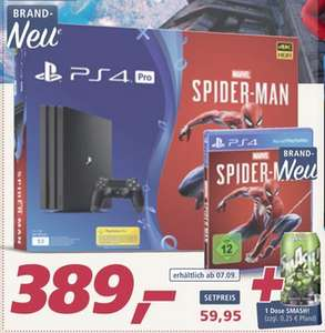 Playstation 4 PRO (1 TB) inkl. 1 Controller & Spider-Man (evtl. Ab 07.09. auch Online)