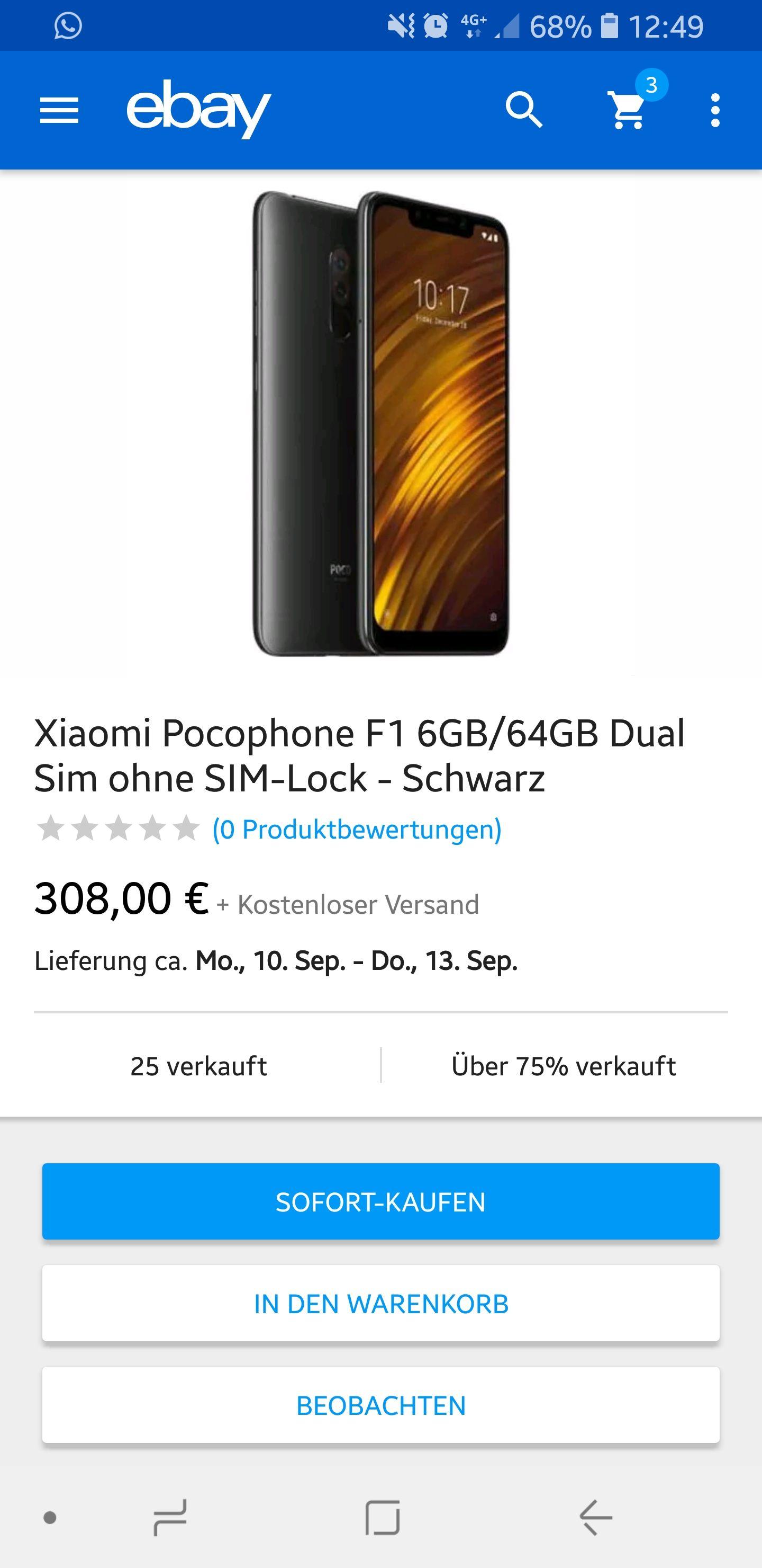 EBAY - Xiaomi pocophone f1 6/64