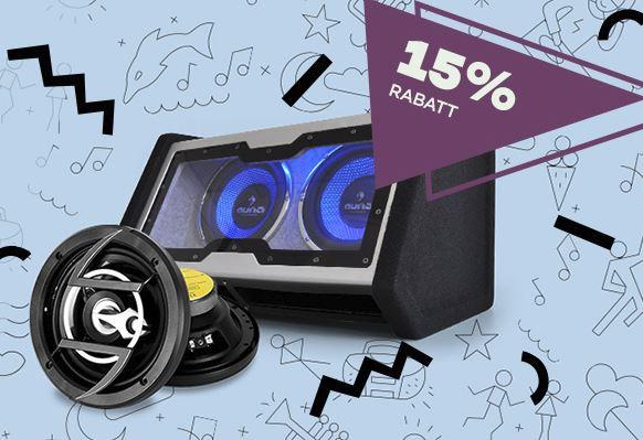 [Auna] 15% Rabatt auf ausgewählte Car-Hifi Produkte, Versandkostenfrei im Summersale Woche 3 von 4