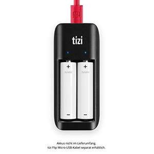 Amazon equinux Tizi LAADAAA USB Akku-Ladegerät für 2X AA /AAA