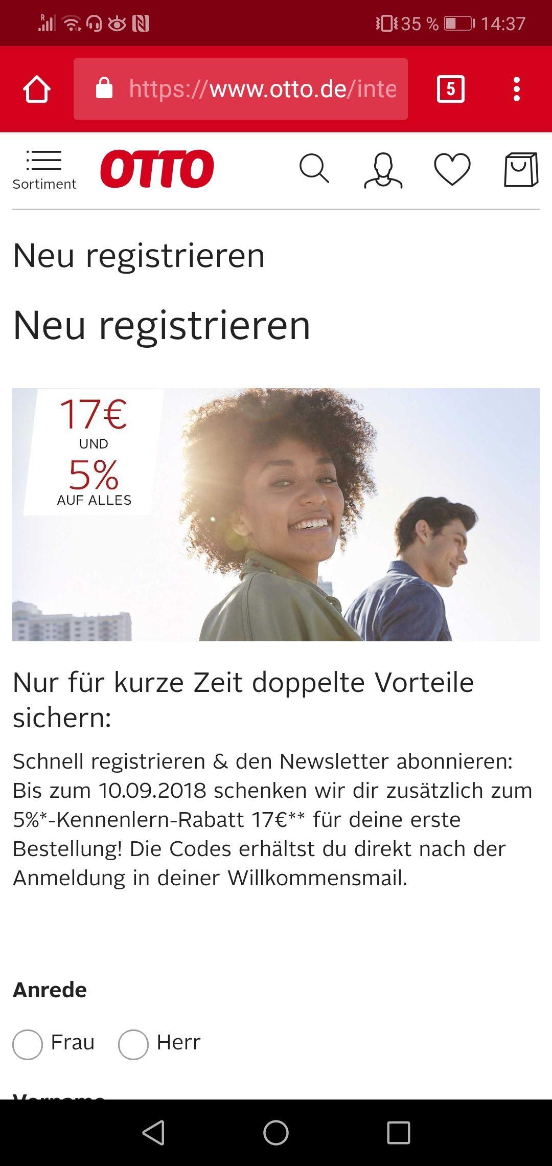 17€ Gutschein(mbw : 40€) + 5% Gutschein
