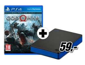 God of War - Day One Edition (PS4) + Seagate Game Drive PS4 1TB für 69€ inkl. Versand DE (Media Markt)