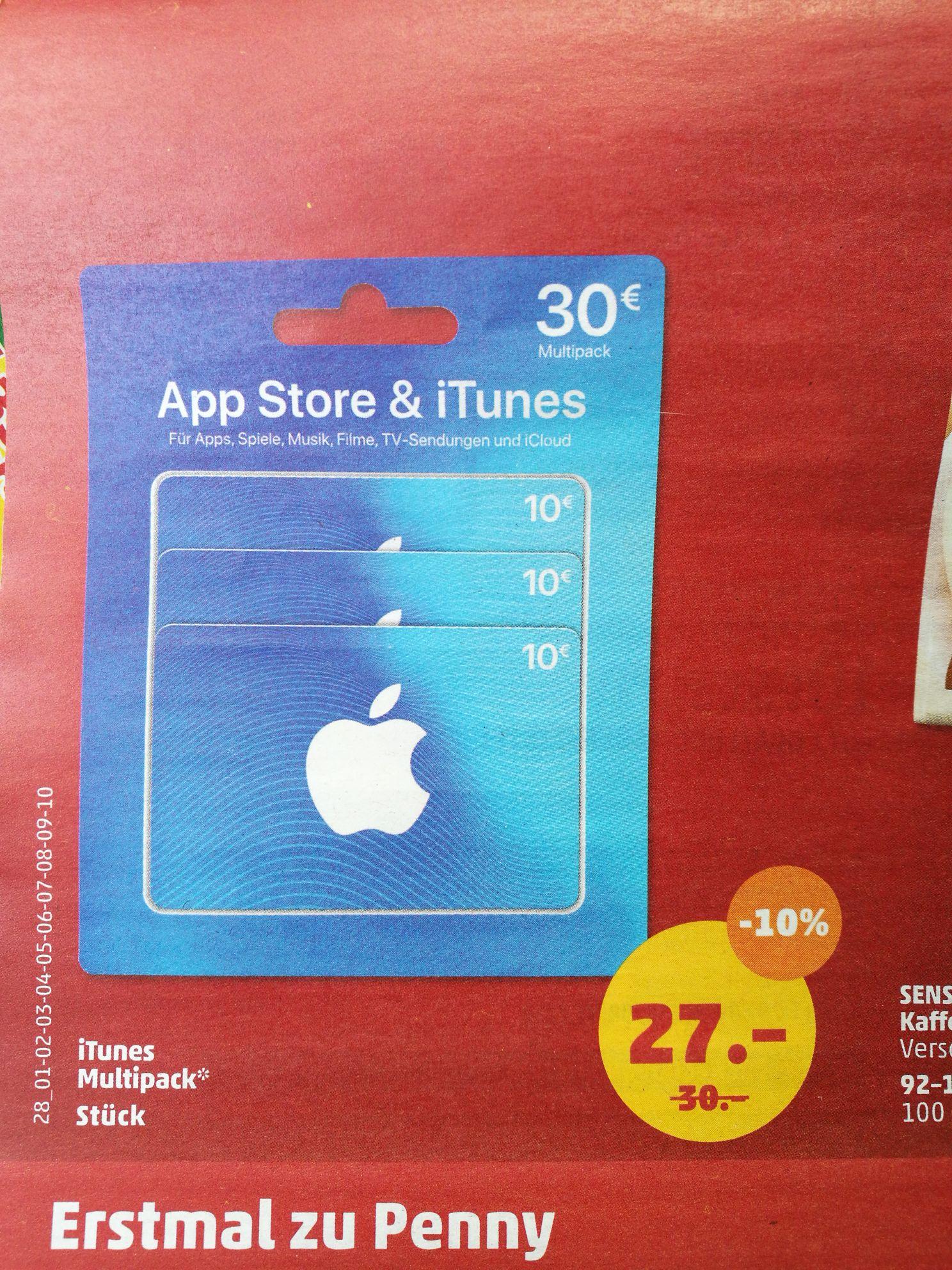 iTunes Multipack - 3 mal 10 EUR für 27 EUR