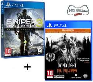 Dying Light The Following & Sniper Ghost Warrior 3 (AT-PEGI 100% Uncut) - Limited Season Pass Edition [PlayStation 4]