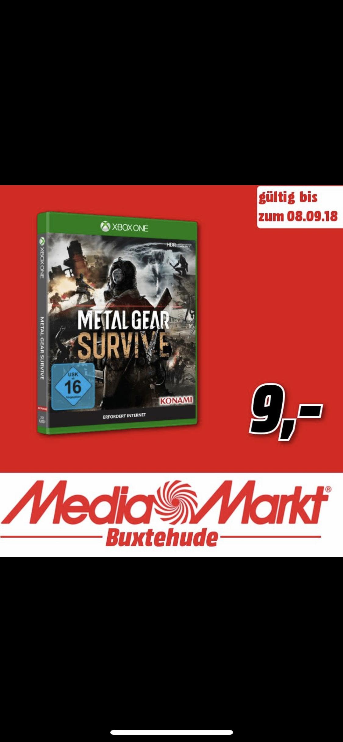 [Lokal]Mediamarkt Buxtehude - Metal Gear Survive XBox für 9€
