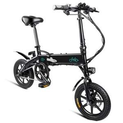 FIIDO D1 Folding Electric Bike Moped Bicycle E-bike BLACK and White 10.4 Ah *PREISUPDATE*