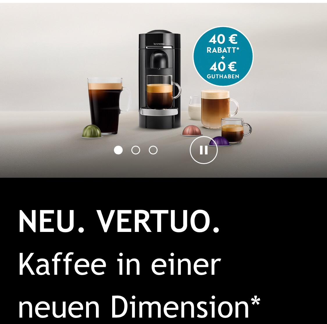NEU Vertue Nespresso XL Kapsel Automat IFA Special