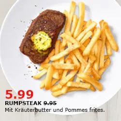 180g Rumpsteak + Kartoffelbeilage im IKEA Restaurant