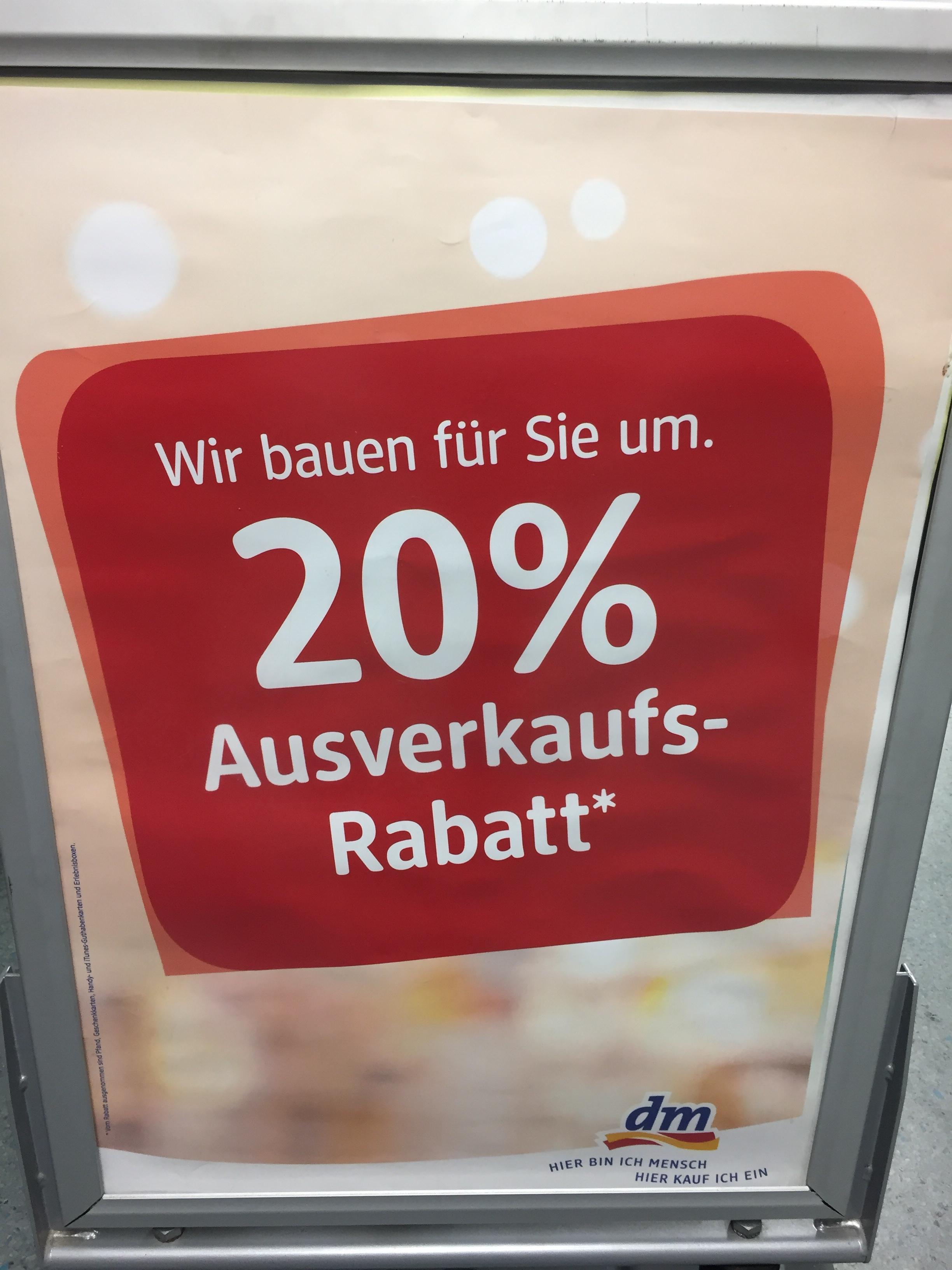 [Lokal] 20% auf alles! dm Drogeriemarkt Leutkirch