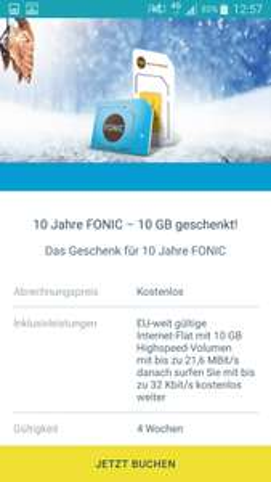 Fonic verschenkt 10GB an Neu und Bestandskunden