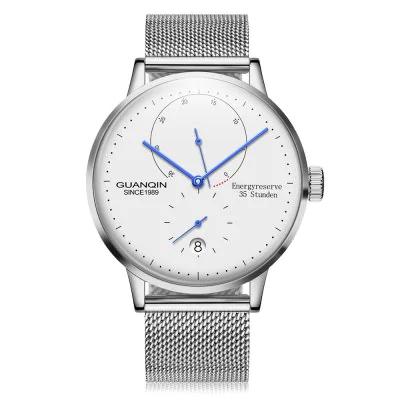 GUANQIN Automatik-Uhr, Anzeige der Gangreserve