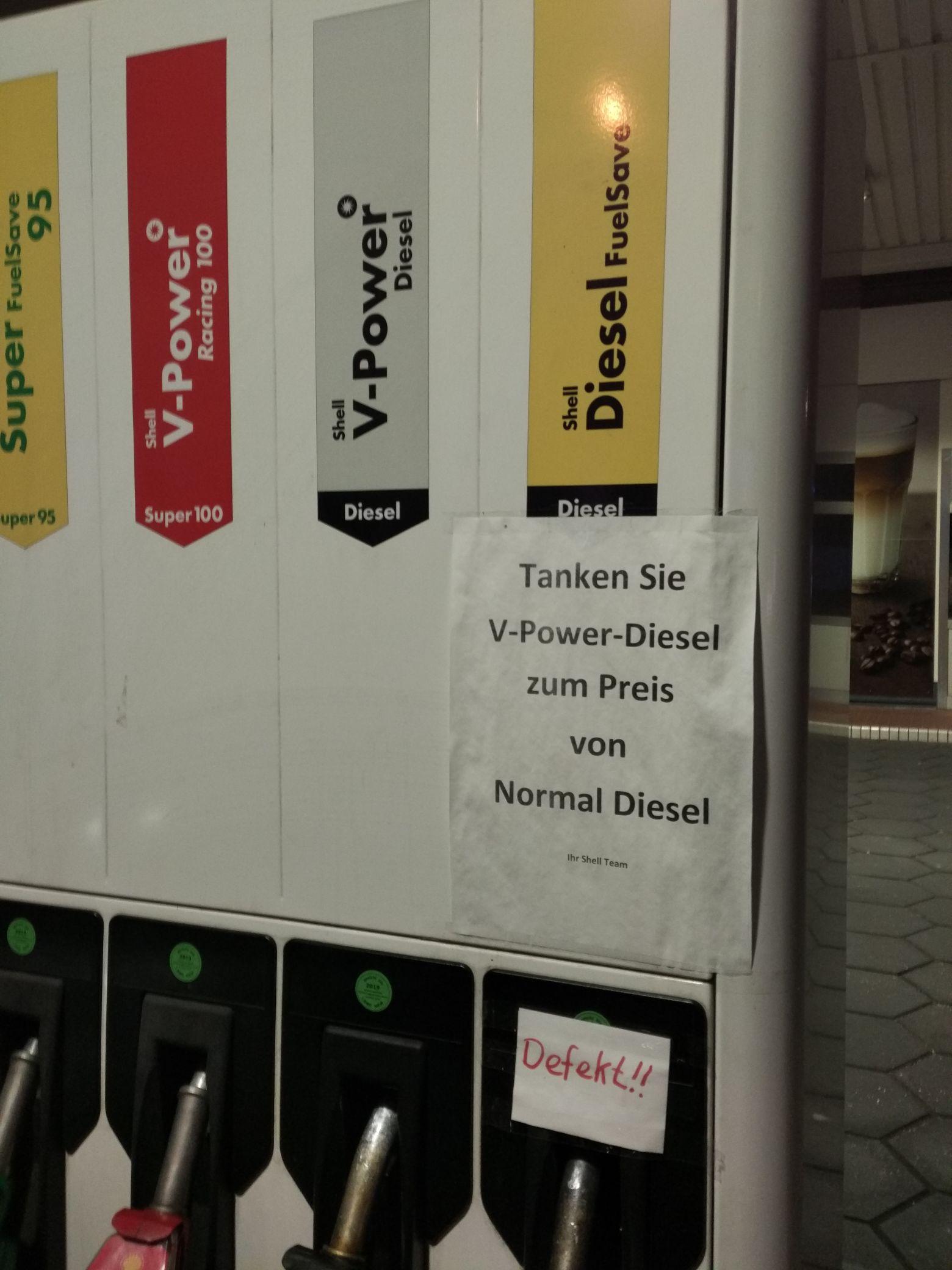 [Lokal Bielefeld] Shell V-Power Diesel zum Diesel Preis