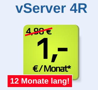 [1blu.de] Vserver (dedicated Linux-Server) für 1 Euro im Monat (1 Jahr Laufzeit), vServer 4R