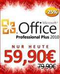 Office 2010 Professional und Office for Mac 2011 (beide inkl. Outlook) für 59,90€ für Studenten, Auszubildende, IHK-Kursteilnehmer und Hochschul-Dozenten
