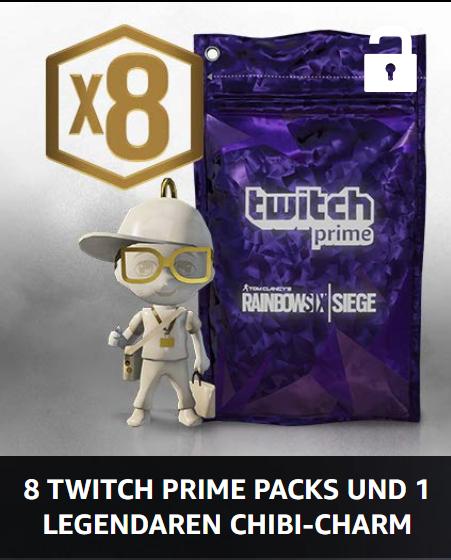 [Twitch Prime] R6 Siege - 8 Twitch Prime Packs + Chibi