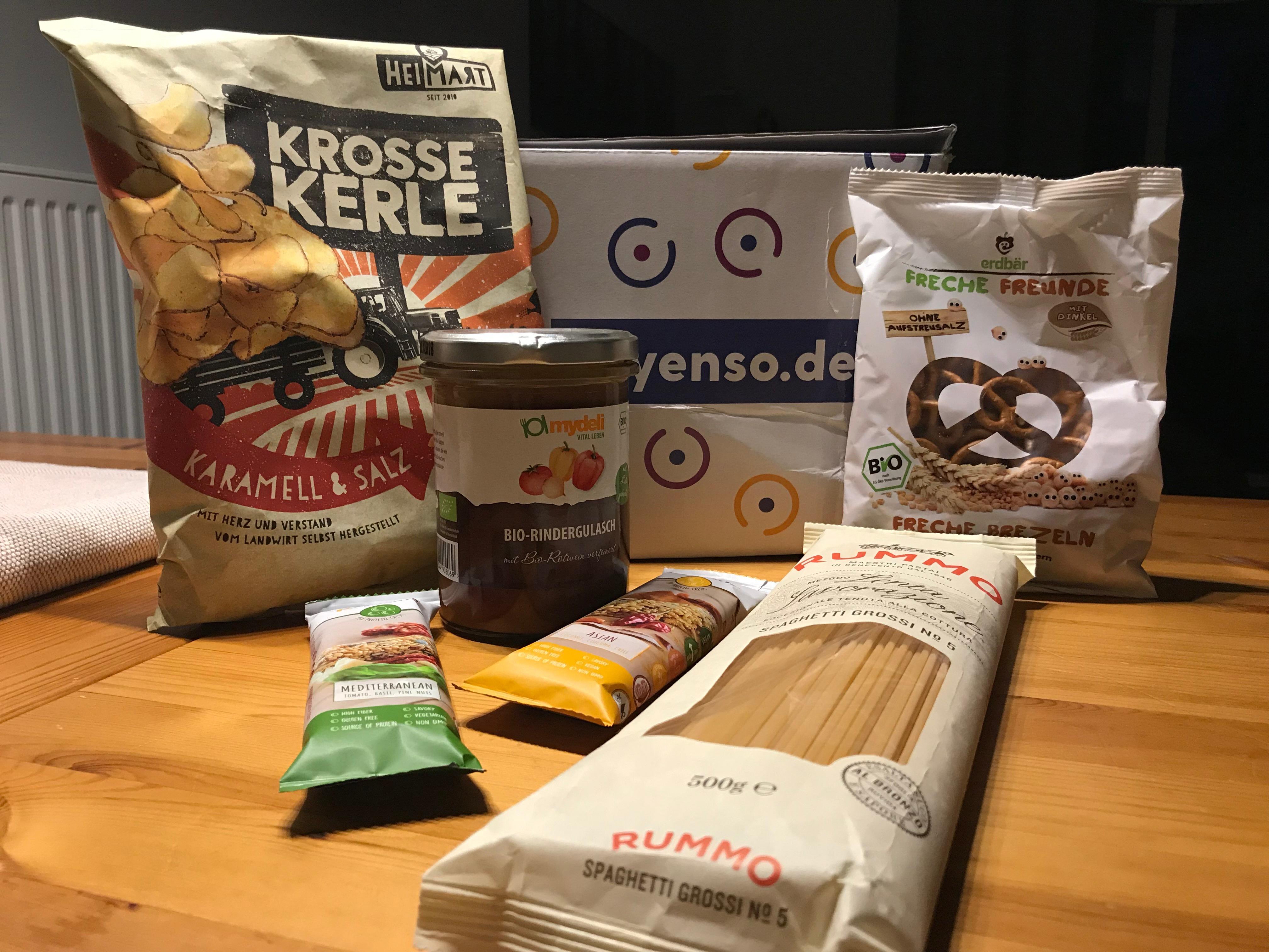 myEnso Online-Supermarkt: Kostenlose Welcome Box mit 5 Produkten