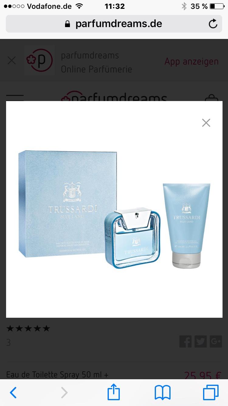 Blue Land Geschenkset von Trussardi bei Parfumdreams
