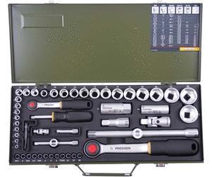 """Proxxon Steckschlüsselsatz 23040 1/2"""" + 1/4"""" 56-tlg. für 55 Euro [Globus Baumarkt]"""