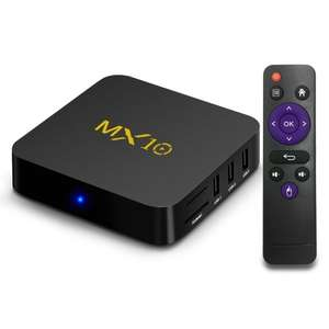 [64 GB] MX10 Android 8.1 TV Box 4GB / 64GB 4K Supported RK3328 CPU / USB 3.0 / HDR10 / VP9 / H.265 / DLNA / Miracast / Airplay / LAN