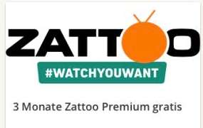 Zattoo TV-Streaming Premium 3 Monate kostenlos bei web.de für Neukunden