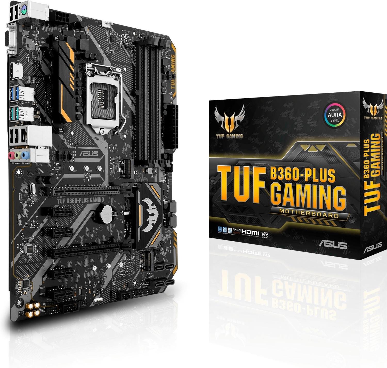 Asus TUF B360-Plus Gaming (ATX, Intel B360) für 77€ & Asus TUF B450-Plus Gaming (ATX, AMD B450) für 92€