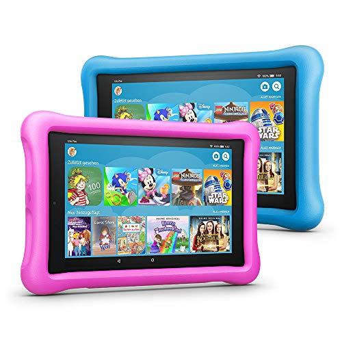 [amazon] Fire HD 8 Kids 2018er Edition Tablet Variety Pack, 2 Stück, 32 GB, (Blau/Pink) inkl. kindergerechter Hülle & 2-Jahre-Sorglos-Garantie und 1-jährige Mitgliedschaft bei Amazon FreeTime Unlimited