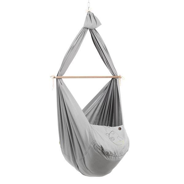 NONOMO® Federwiegen-Set Baby Classic mit Kunstfaser-Matratze und Deckenbefestigung