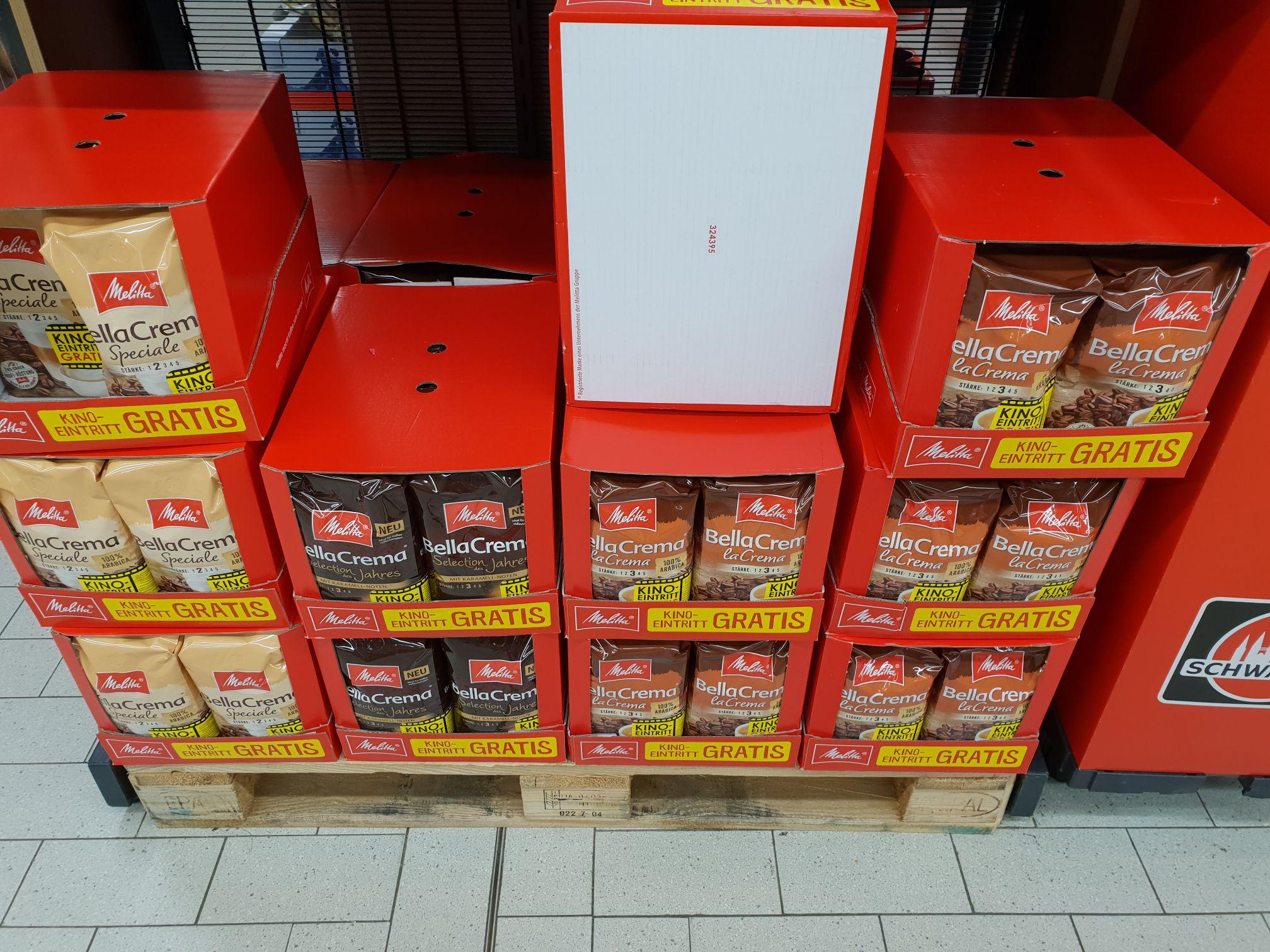 Melitta 1 kg Kaffeebohnen verschiedene Sorten + gratis Moviechoice Kinogutschein im Kaufland