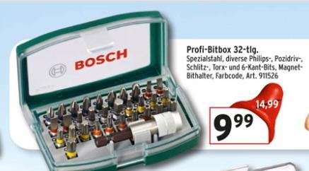 Bosch Profi-Bitbox 32-tlg. für 9,99€@Max Bahr