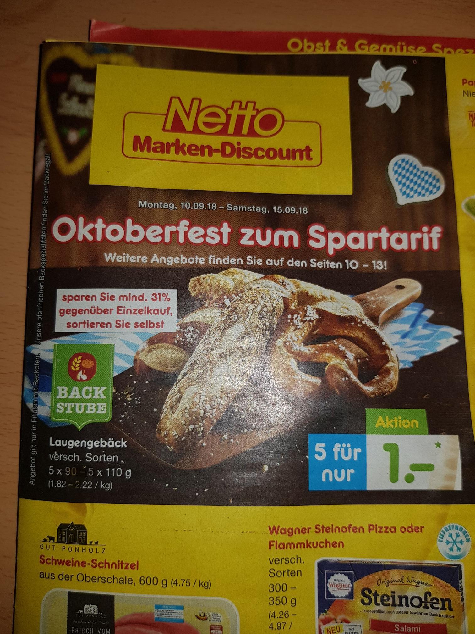 [Netto MD ab 10.09.] 5 Käselaugenstangen für 1€ (20 Cent pro Stange)