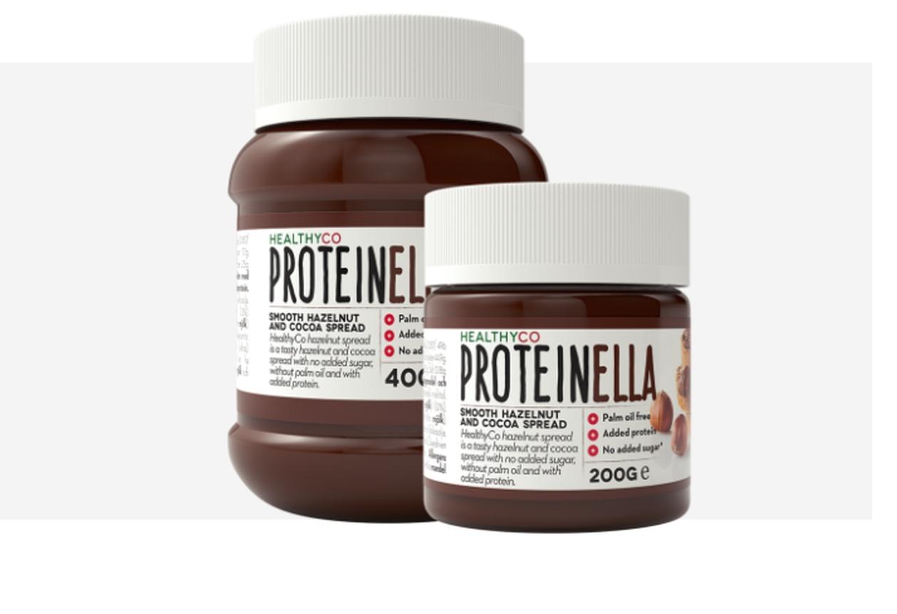 [LOKAL] Tegut Märkte HealthyCo PROTEINELLA 200 g Aufstrich weiße Schokolade oder Haselnuss / LOW CARB